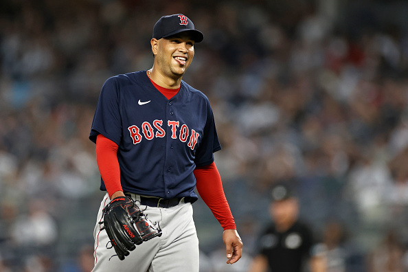 Eduardo Rodriguez punches out 8 over 5 2/3 scoreless innings as Red Sox blank Yankees, 4-0; Christian Arroyo, J.D. Martinez both homer inwin