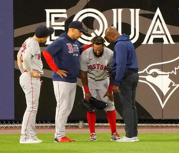 Red Sox' Danny Santana likely to be placed on injured list after experiencing left groin tightness onWednesday
