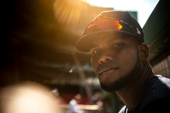 Franchy Cordero set to make first career major-league start at first base in Sunday's series finale againstYankees