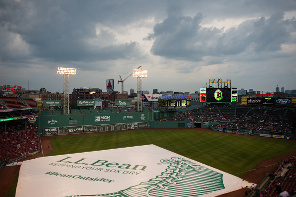 Tuesday's Red Sox-Blue Jays game postponed due to severe weather conditions in the Fenwayarea