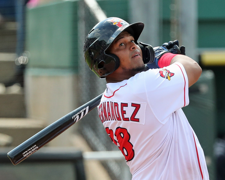Red Sox catching prospect Ronaldo Hernández has been red-hot at the plate for Double-APortland