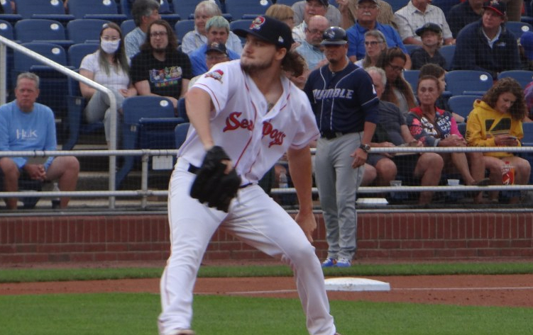 Red Sox pitching prospect Chris Murphy allows just 1 hit and strikes out 7 over 7 scoreless innings in latest start for Double-APortland
