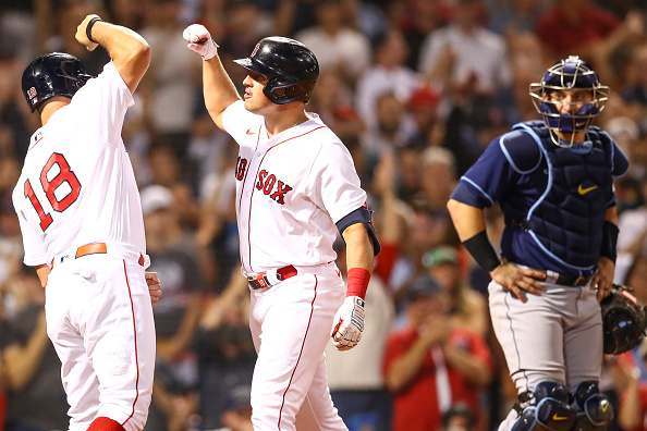 Hunter Renfroe comes through with game-winning homer, 2 clutch outfield assists as Red Sox hang on for 2-1 victory overRays