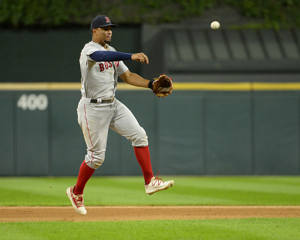 J.D. Martinez remains out of Red Sox lineup due to back tightness; Xander Bogaerts gets day off in series finale against WhiteSox