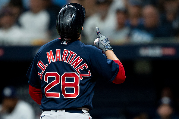 J.D. Martinez once again batting sixth for Red Sox in Game 3 of ALDS vs.Rays