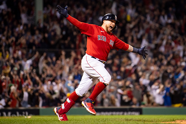 Christian Vázquez walks it off for Red Sox in 6-4 win in 13 innings over Rays in Game 3 ofALDS