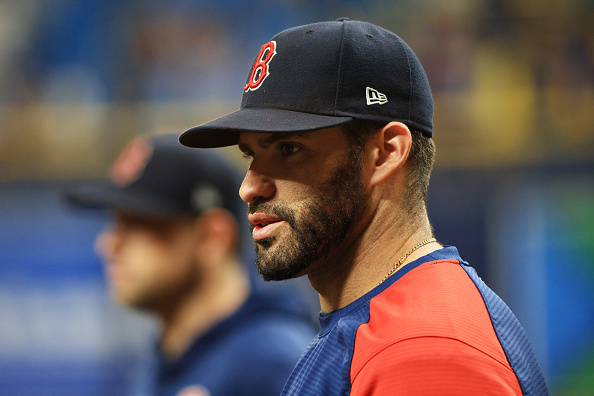 J.D. Martinez returns to Red Sox lineup for Game 2 of ALDS vs. Rays; Kyle Schwarber starting over Bobby Dalbec at firstbase