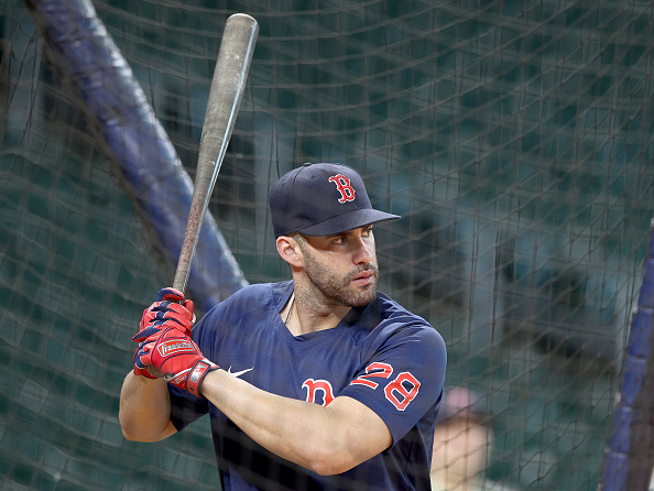 J.D. Martinez batting fifth for Red Sox in Game 1 of ALCS vs.Astros