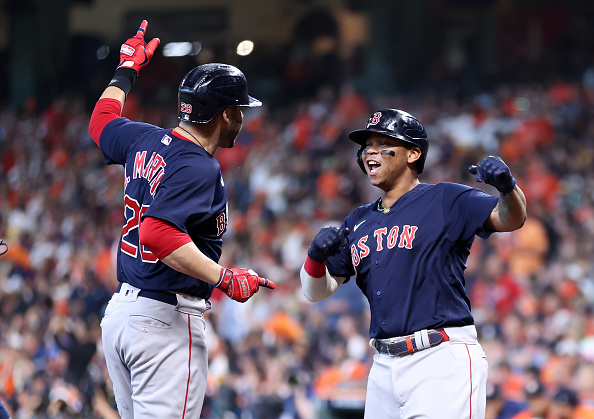 J.D. Martinez and Rafael Devers lead the way with pair of grand slams as Red Sox even ALCS with 9-5 win overAstros